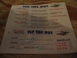 スワグマンのフライザバスのチケット ※P500/人の時の写真です。