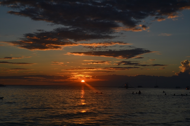 ボラカイ島の5月のサンセット(8)