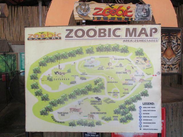 ズービックサファリのマップ