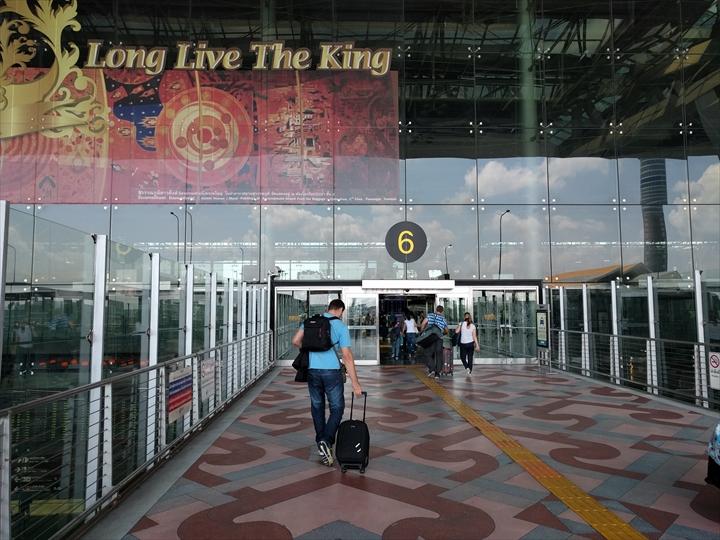 パタヤからスワンナプーム国際空港までバスで行く(空港ターミナルビルへ)