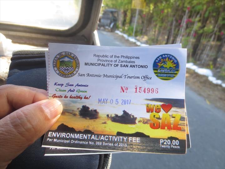 フィリピンのプンダキットビーチへ(環境税を徴収される)