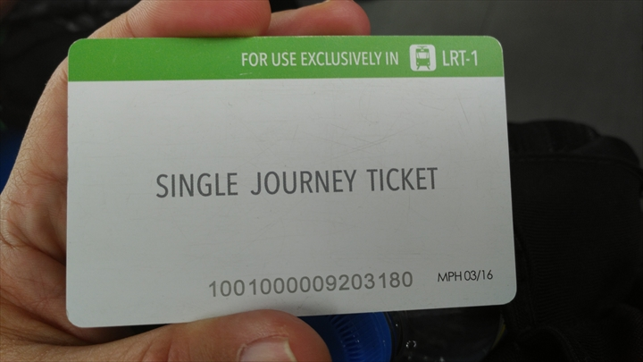 LRTバリンタワックを経由してアンヘレスから移動(カード型チケット)