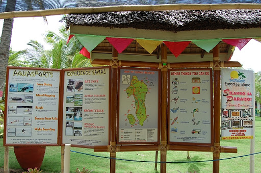 サマール島の見所やダイブポイントなどが記載されています