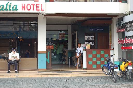 アンヘレスの両替-ナタリアホテルの1F