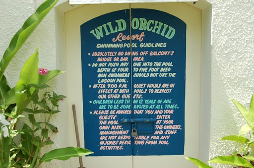 ワイルドオーキッド - プール利用のガイドライン