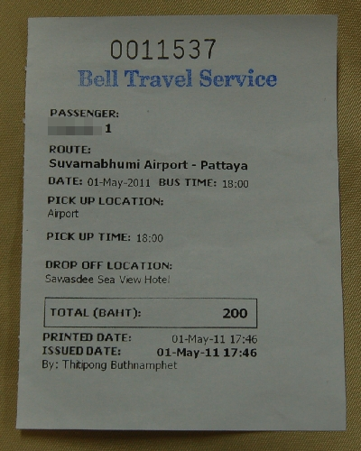 ベルトラベルサービスのチケット半券