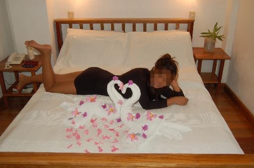 今回同行したアンヘレスの娘さん - ボラカイのホテルにて