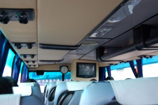 エアコンバスの車内の様子です