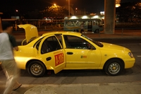 manila yellow taxi at terminal3