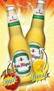 San Miguel Apple and Lemon Flavored Beers