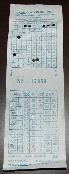 ダグパンバスのチケット