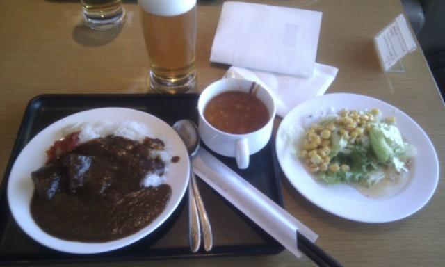 JALラウンジの夕食
