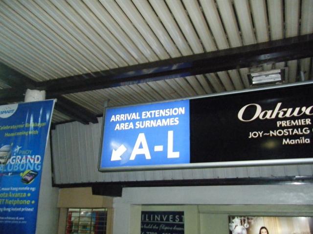 ニノイアキノ国際空港ターミナル1 - アルファベット(A~L)左側