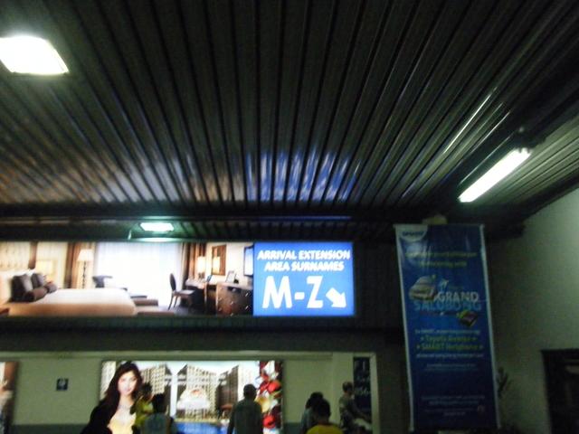 ニノイアキノ国際空港ターミナル1 アルファベット(M~Z)右側