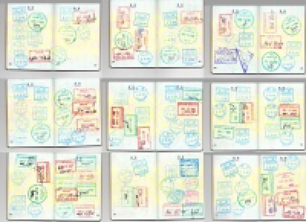 あの目的の為だけに通う人のパスポート(抜粋) 【P国以外は4カ国】