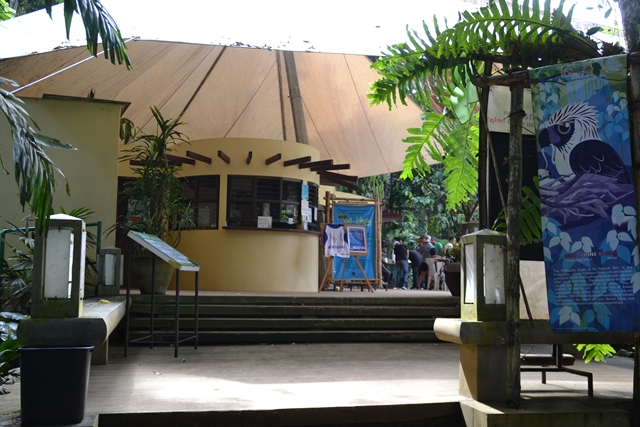 フィリピンイーグルセンターのエントランス