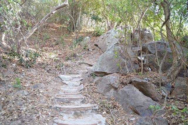 ラン島でレンタルバイク - こんな山道を登る
