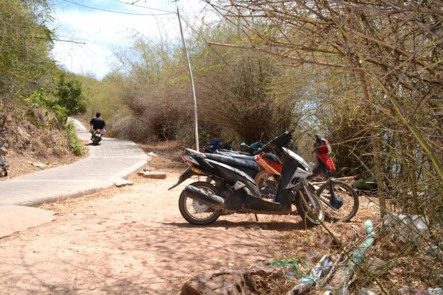 ラン島でレンタルバイク - バイクを借りた場所