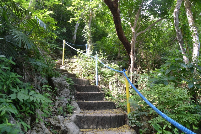 ハンドレッドアイランド - 展望台に登る階段