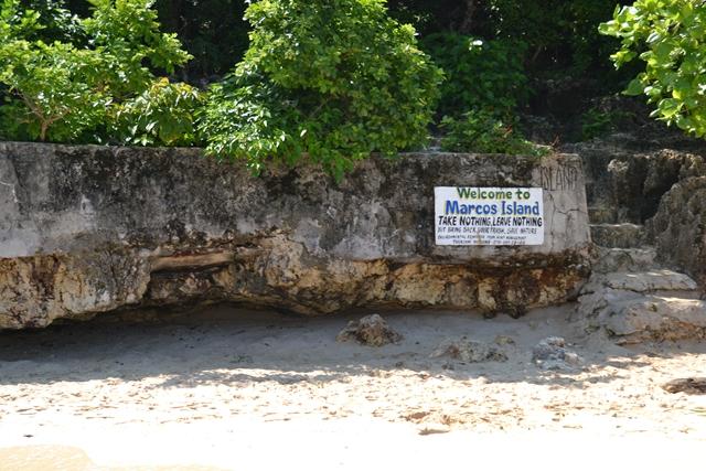 ハンドレッドアイランド - マルコス島のプレート