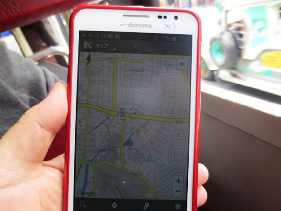 Galaxy Note と GoogleMap