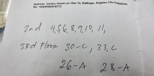 バーボン・ストリートコンドテルホテル - 外窓のある部屋番号