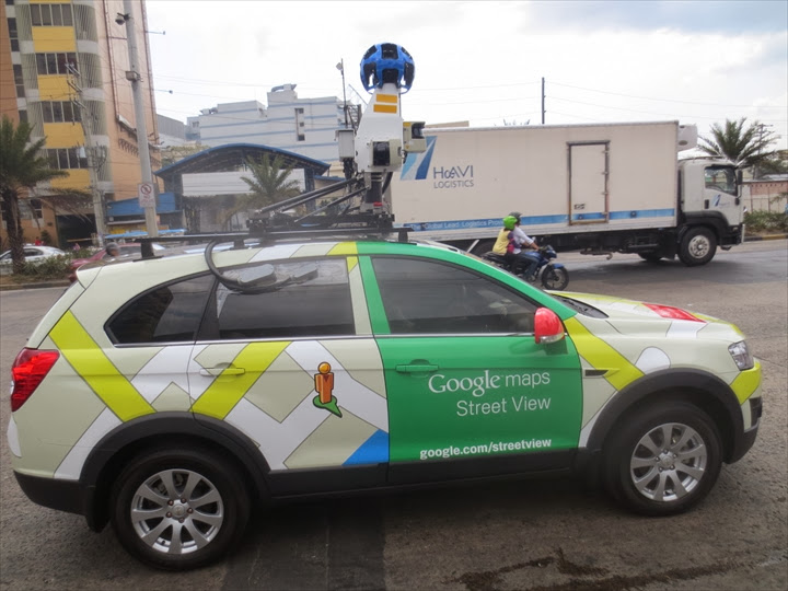 Google Street View Car at manila (1)