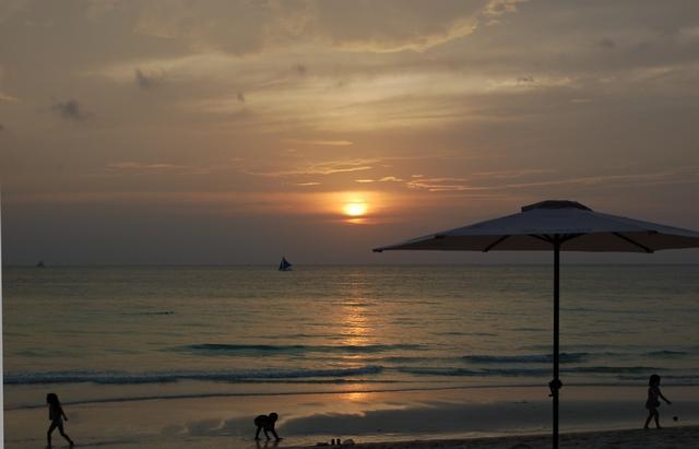 ボラカイ島の夕日