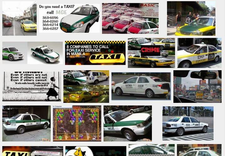 Metro Manila company taxi