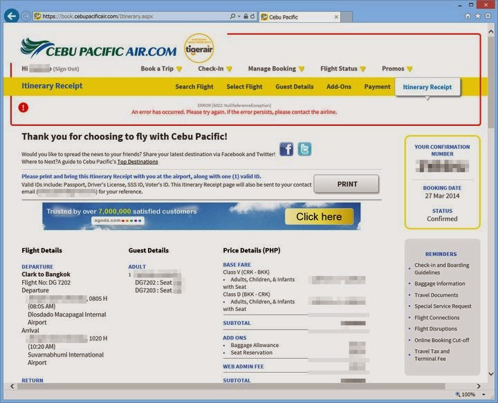 an error has occurred - cebupacificair.com