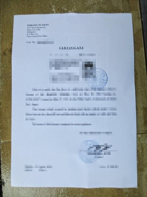 運転免許証の翻訳証明書