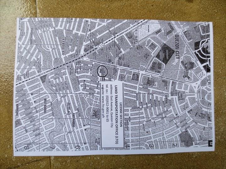 ケソンのLTOの場所がわかる地図