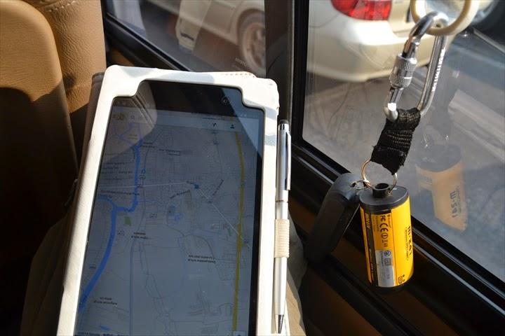 アユタヤ付近でGoogleMapsで位置確認