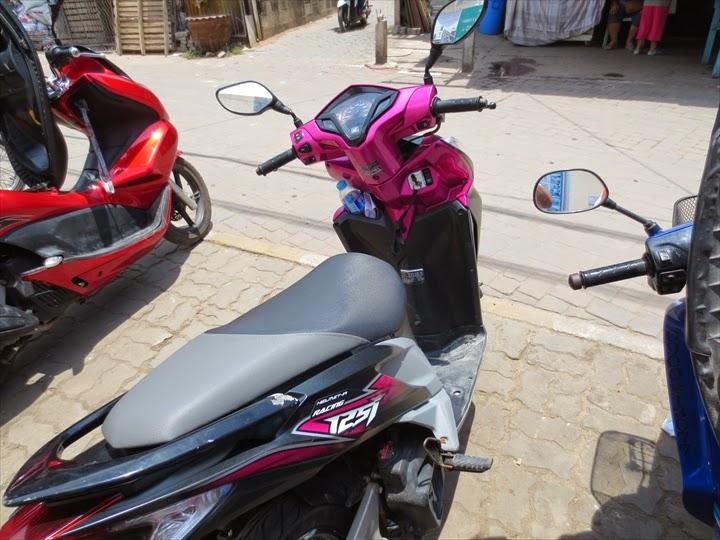 ラン島で借りたレンタルバイク