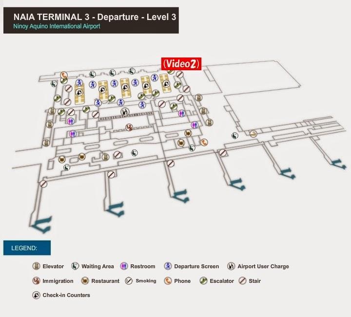 マニラ国際空港 ターミナル3 出発階フロアマップ