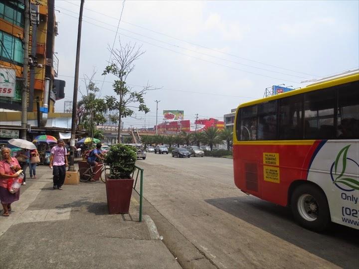 アンヘレスからのバスで度々パサイと呼ばれて降りるバス停