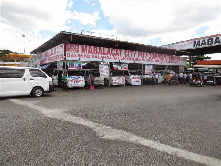 ミニバスでダオからオロンガポへ - ミニバス待機場