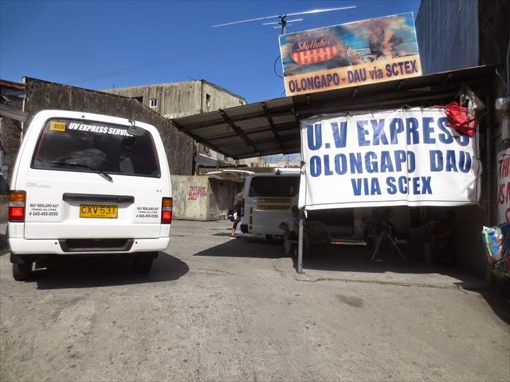 ミニバスでダオからオロンガポへ - オロンガポバス停