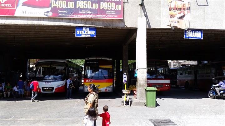 オロンガポのビクトリーライナー北行き駐車場