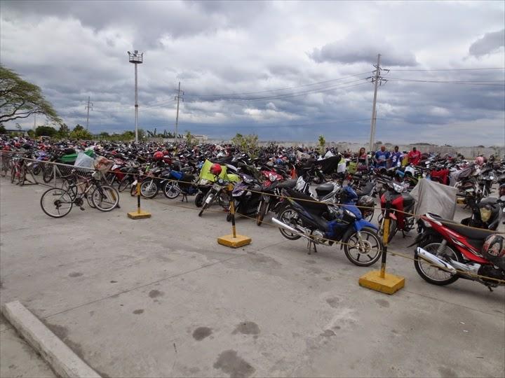 SMクラークシティの駐輪場