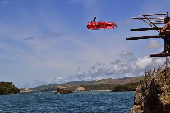 マジックアイランドの最高位置の10Mからジャンプするおっさんハポン(2)