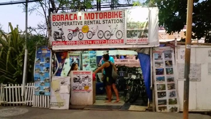 ボラカイ島のレンタルバイクショップ