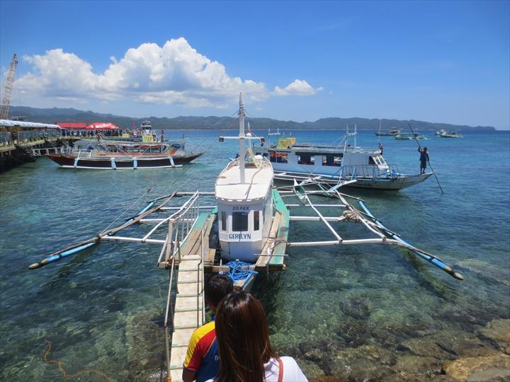 ボラカイからカリボへ - 帰路のバンカーボート