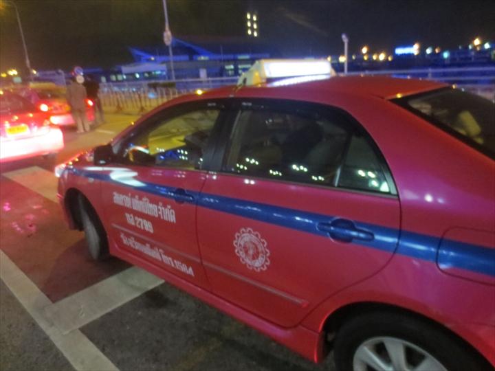スワンナプームまで乗ってきたタクシー