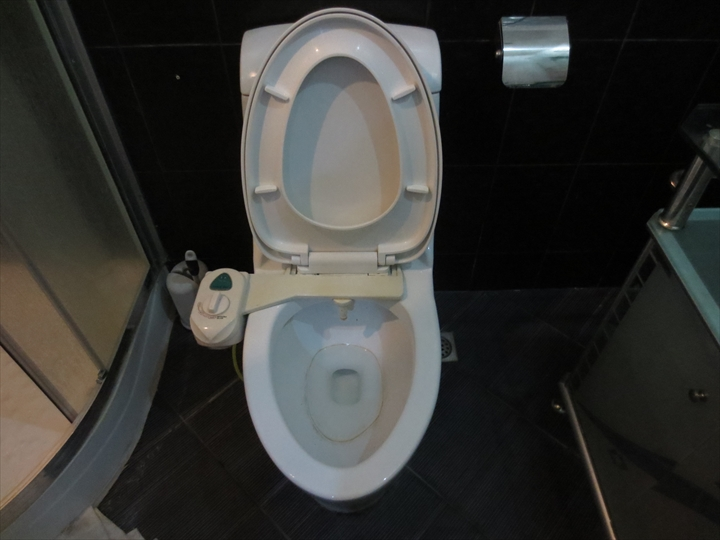 トイレの輪染み
