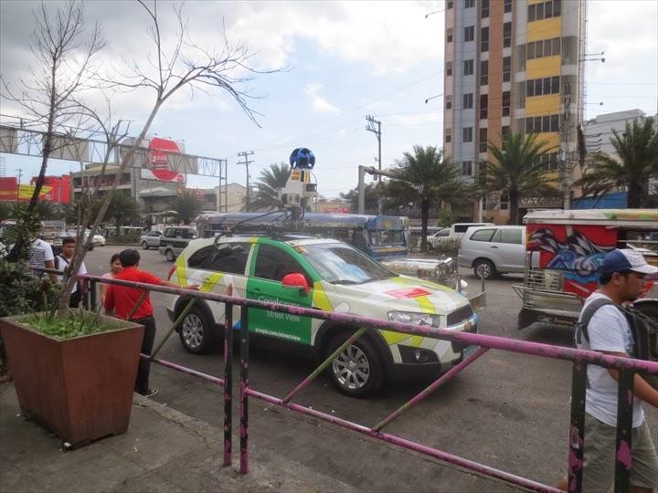 2014/02にマニラで撮影したGoogleカーの様子