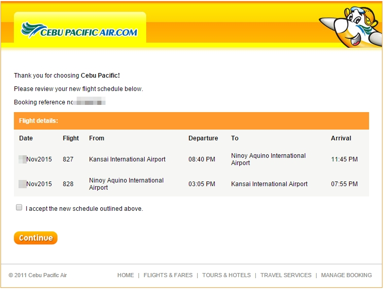 Schedule Change Advisory - CebupacificAir (2/3)