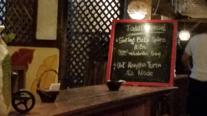 Santino's Grillの今日のスペシャル