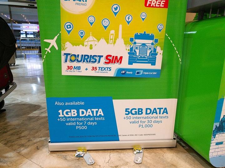 マニラ空港で購入可能にかったツーリストシム(2)