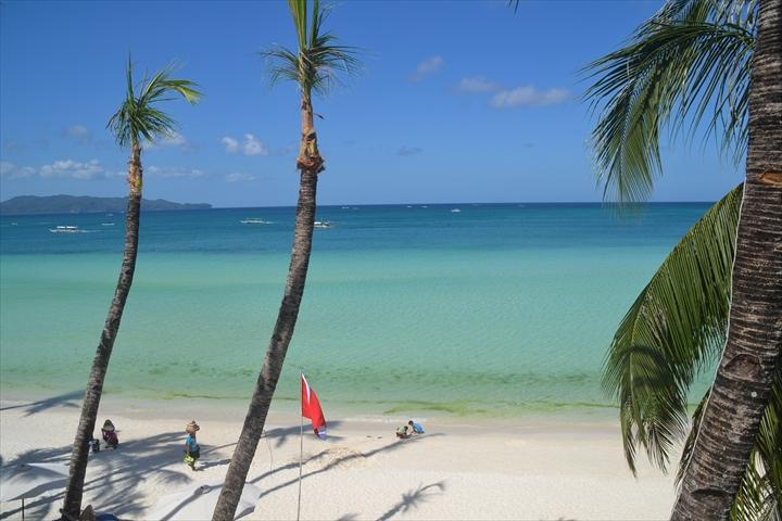 ボラカイ島の4月のアオコ(1)